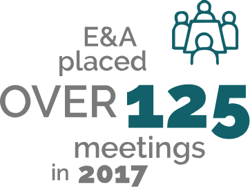 Over 125 meetings in 2017